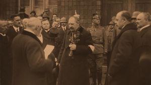 Senaatti palaa Vaasasta Helsinkiin 4.5.1918.