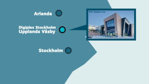 Grafik över datorhall nära Arlanda