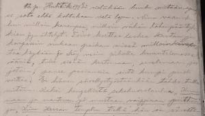 Alma Kuulan päiväkirjamerkintä.