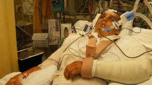 Tony på sjukhuset