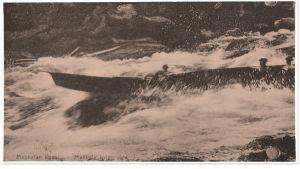 Mankalan koski postikortissa.