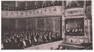 Suomalaisen Oopperan avajaisnäytäntö 19. tammikuuta 1919 Aleksanterin teatterissa.