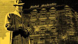 Kuvituskuva kuunnelmaan Maigret ja Hotelli Majesticin murhat.
