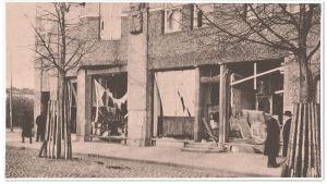 Sisällissodassa tuhoutunut kahvila Aristo Viipurissa.