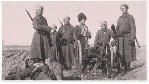 Venäläisiä sotilaita rintamalla boksarikapinan aikaan 1900-1901.