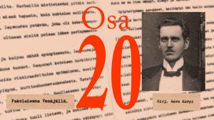 """Knut Kankaan käsikirjoitus """"Pakolaisena Venäjällä""""."""