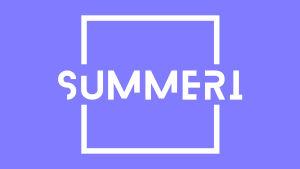 Summerin logo lilalla pohjalla.