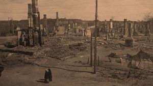 Viipurin Kolikkoinmäki taistelun jälkeen huhtikuussa 1918.