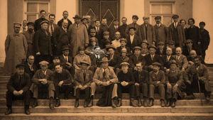 Edvard Gylling ja suomalaisia vieraita Petroiskoissa 1927.