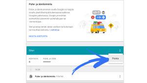 Näyttökuva Googlen Puhe-ja äänitoiminta asetuksista, nuoli osoittaa poista-kohtaa.