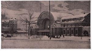 Viipurin rautatieasema talvella 1900-luvun alussa.