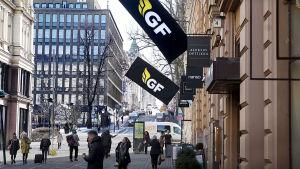 GF Moneyn pääkonttori Helsingin keskustassa.