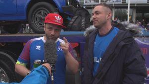 Johann Bianco är isländsk supporter.