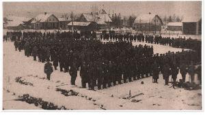 Lapuan suojeluskunta talvella 1918 ennen Länkipohjaan lähtöä.