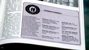 Pelastusarmeijan Sotahuuto-lehden palsta jossa etsitään kadonneita sukulaisia.