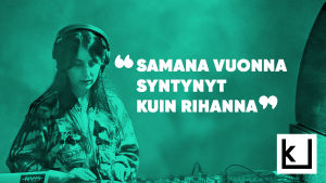 """Toimittaja Renaz Ebrahimi ja lainaus """"Saman vuonaa syntynyt kuin Rihanna."""""""
