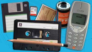 Vanhoja medialaitteita