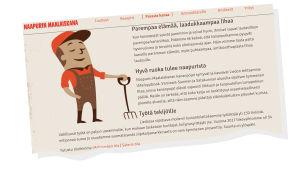 Kuvakaappaus sivustolta naapurinmaalaiskana.fi