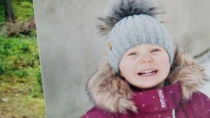 Teppo Mattssonin tytär valokuvassa.