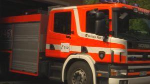 Brandbil i Bobäck i Kyrkslätt
