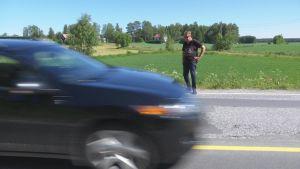 Christer Kantola står vid Solfvägen.
