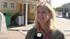 Ann-Karin Koskinen i Muminvärlden i Nådendal.