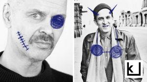 Jouko Turkan ja Ingmar Bergmanin kasvot.