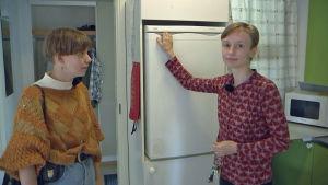 Milla Juslin och Mathilda hauta