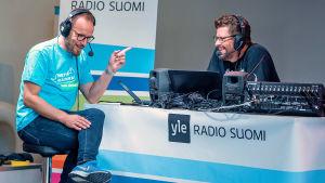 Mikko Kekäläinen Radio Suomen Helsingin iltapäivän haastattelussa Nettiä ikä kaikki -kiertueella.