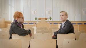 Fredrik Westblom möter mormonen Emil Pärkkä
