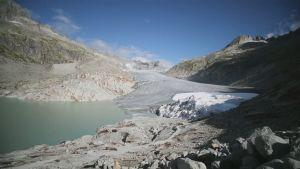 Rhôneglaciären i Schweiz