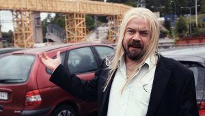 Humorkraktären Patte Lindroos i serien Stjärnorna på Knipan.. Skådespelare: Max Forsman