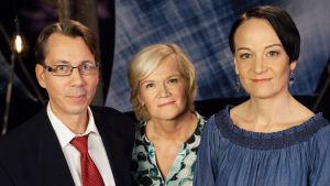 Juha Lehti, Anne Flinkkilä sekä Miia Moisio.