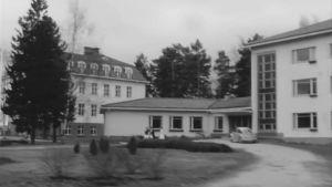 Roparnäs sjukhus, en suddig bild utifrån, tagen på sextiotalet