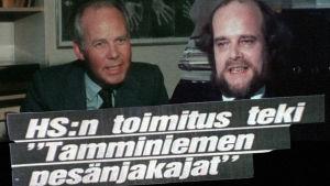Hannu Tarmio ja Jussi Niininen sekä Lehtilööppi. Kollaasi.