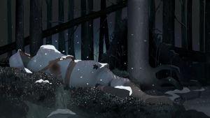 Kuvituskuva KulttuuriCocktailin artikkeliin. Kuollut sotilas makaa maassa, luntaa sataa hänen ruumiinsa päälle.