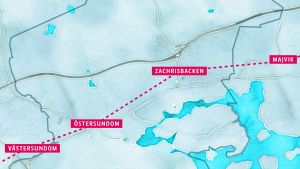 Fyra nya metrostationer.