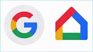 Kuvakaappaus Google- ja Google Home -sovellusten kuvakkeista.