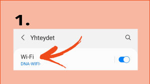 Kuvakaappaus Samsung A5 - kännykästä: Wi-Fi Direct -toiminnon käyttöönoton kaksi askelta.