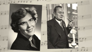 Meri Louhos ja Aarre Merikanto 1950-luvulla.