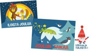 Thumbnail tulostettavalle joulukortille