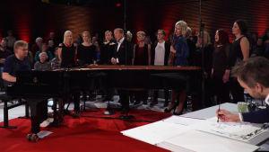 Pianotaiteilija Iiro Rantalan ja sarjakuvataiteilija Ville Rannan Tunteiden ilta 20.12.2018.