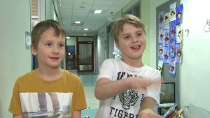 Två pojkar, Emil Railovirta och Tuukka Virtanen.