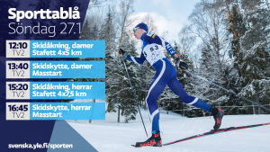 Yle Sportens TV-utbud söndagen 27.1.