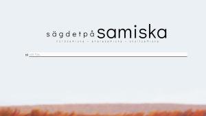 Skärmdump från nätsidan Säg det på samiska.