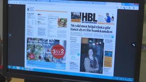 Hufvudstadbladet på nätet.