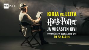 Kirja vs. Leffa -ohjelmasarjan promokuva.