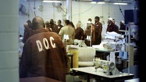 Yhdysvaltojen vangeista suurin osa on värillisiä ja köyhiä. Laitoksissa vangit tekevät työtä, lähes orjina.