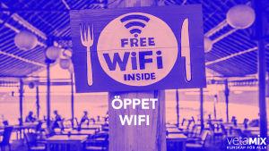 bild till text om att använda öppet wifi
