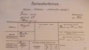 Felix Kerstenin sairaskertomus-dokumentti.